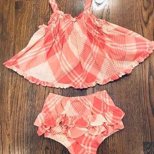 Ralph Lauren Baby Girl Top & Bloomers Set (6 Mos.)